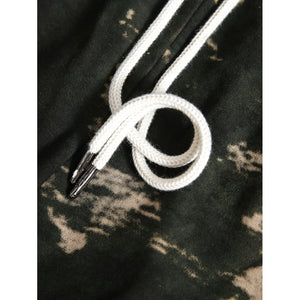 Men Camouflage Drawstring Shorts
