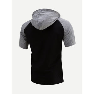 Men Color Block Hooded Sweatshirt