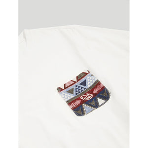 Men Pocket Embroidered Tunic Tee