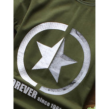Men Star And Letter Print Tee