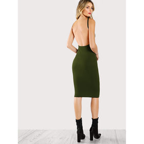 Low Back Pencil Dress