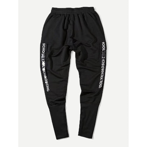 Men Ribbon Drawstring Pants