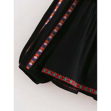 Tie Front Geometric Embroidered Coat