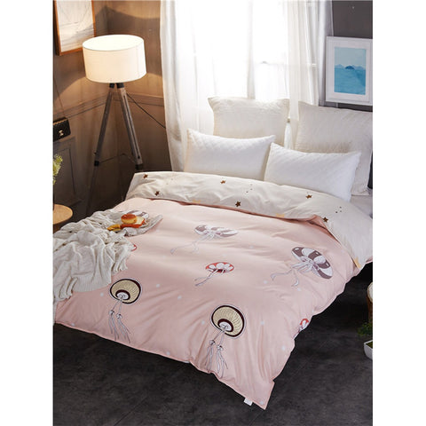 Jellyfish & Star Print Duvet Cover