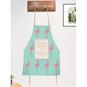 Flamingo & Dot Print Apron