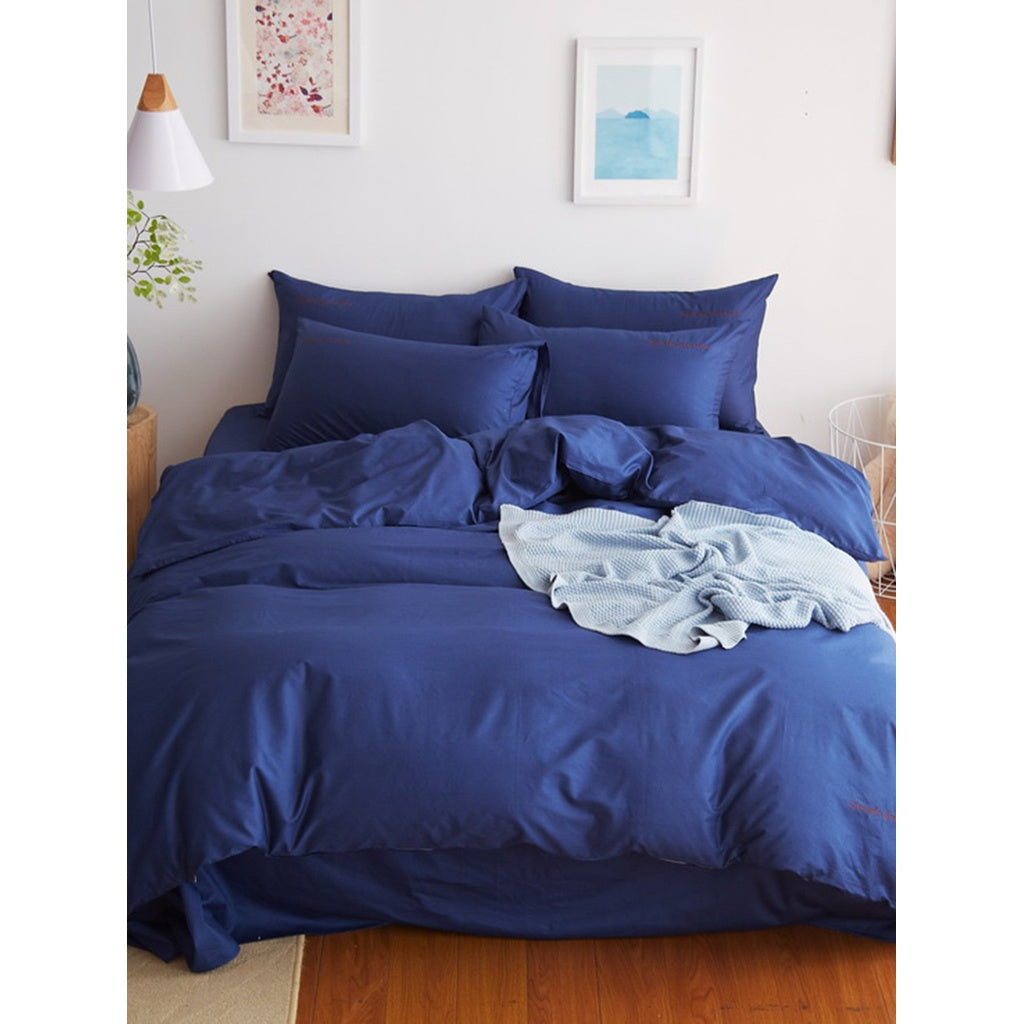 Simple Letter Print Duvet Cover