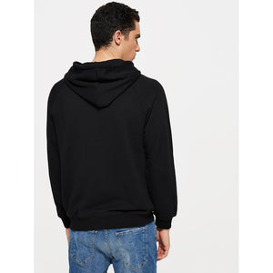 Men Embroidered Hooded Sweatshirts