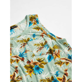 Men Tropical Print Tank Top