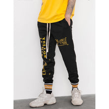 Men Letter Print Drawstring Pants