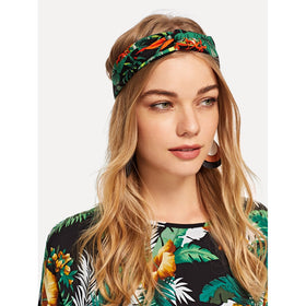 Palm Print Twist Headband