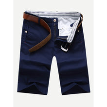 Men Plain Straight Leg Shorts