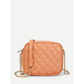 Quilted Design PU Chain Bag