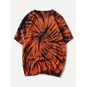 Men Tie Dye Solider Basic Tee