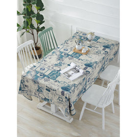 Map Print Table Cloth