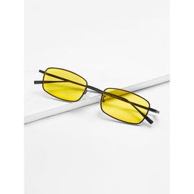 Minimalist Rectangle Lens Sunglasses