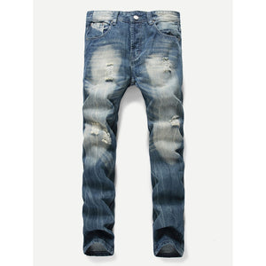 Men Make Old Destroyed Jeans