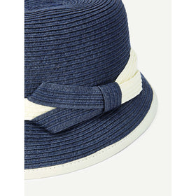 Two Tone Band Straw Hat