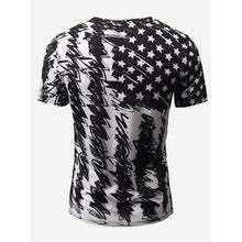 Men Graffiti And Star Print Tee