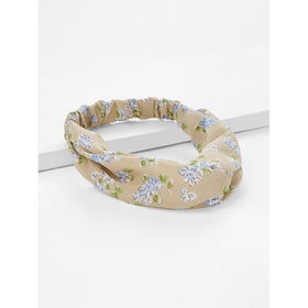 Twist Design Calico Print Headband