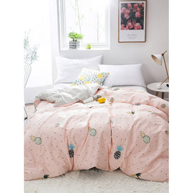 Pineapple & Polka Dot Print Duvet Cover 1PC