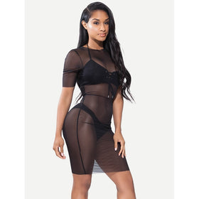 See Through Mesh Dress