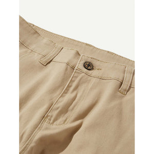 Men Plain Casual Pants