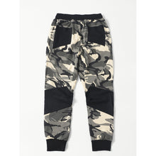 Men Contrast Panel Camo Pants