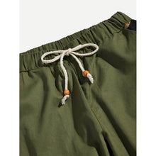 Men Camo Contrast Drawstring Pants