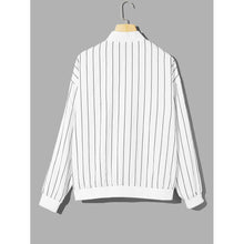 Men Zip Front Striped Jacket
