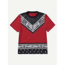 Men Ornate Print Tee