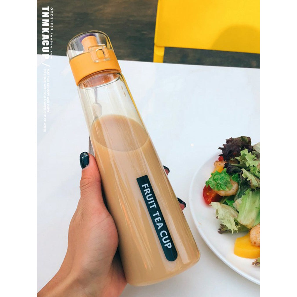 Clear Water Bottle With Wristlet 400ml