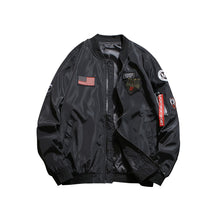 Men Patched Zip Decoration Patched Jacket