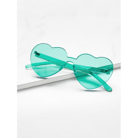 Heart Shaped Flat Lens Sunglasses