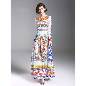 Graphic Print Longline Dress