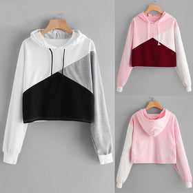Womens Long Sleeve Hoodie Sweatshirt Jumper Hooded Pullover Tops Blouse
