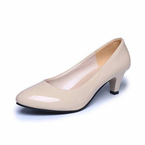 Women's Pumps Low Heels Four Seasons Shoes Ladies Slip-on Elegant Sexy Sweet Plus  Size Party Wedding Basic Shoes Best Sellers