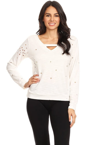 Women stylish cutout sweater