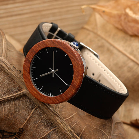 2017 BOBO BIRD Brand Watches Women Waterproof Wood Watches Gifts Natural Red Wooden Watches Quartz relogio feminino C-J01