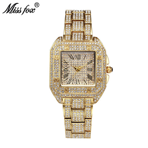 Miss Fox Ladies Wrist Watches Women Fashion Watch 2017 Brand Casual Square Carter Women Watches Waterproof Female Quartz Watch