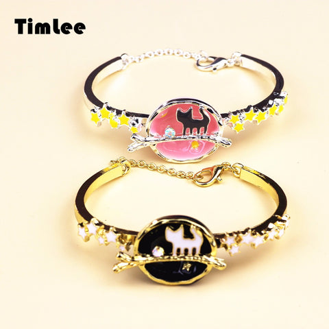 Timlee B007 Free Shipping The Universe Super Gem CAT Star Planets Bangle Bracelet,Jewelry Wholesale