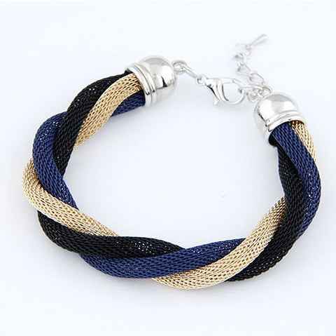 B301 Twisted Bracelet Designer Jewelry Elegant Color Alloy Cuff Bracelet and Bangles Costum Jewelry