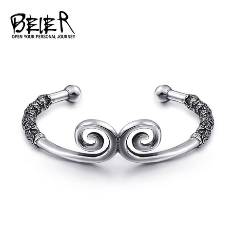 BEIER Fashion Jewelry Incantation Of The Golden Hoop For Man&women Bracelet BRG-006