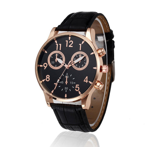 (Ship From US) Malloom Relogio Masculino 3Eyes Mens Watches Top Brand Luxury Retro Design PU Leather Band Men Watch Big Dial