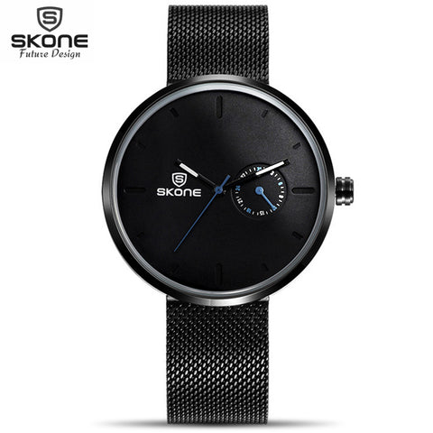 2017 Creative Watch Men Top Luxury Brand Watch Women Stainless Steel Mesh Celeste Watch Unique Waterproof Relogio Masculino Saat