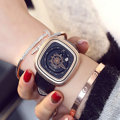 GUOU 2017 New Ladies Watch Brand Fashion Gold Waterproof Women's Watches Personality Calendar Watch Women relogio feminino saat