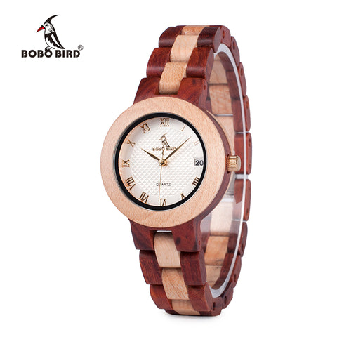 BOBO BIRD Top Brand  V-M19 Ladies Wood Watch Luxury Bracelet Watches with Fine Wooden Strap Women Dress Watch 2017