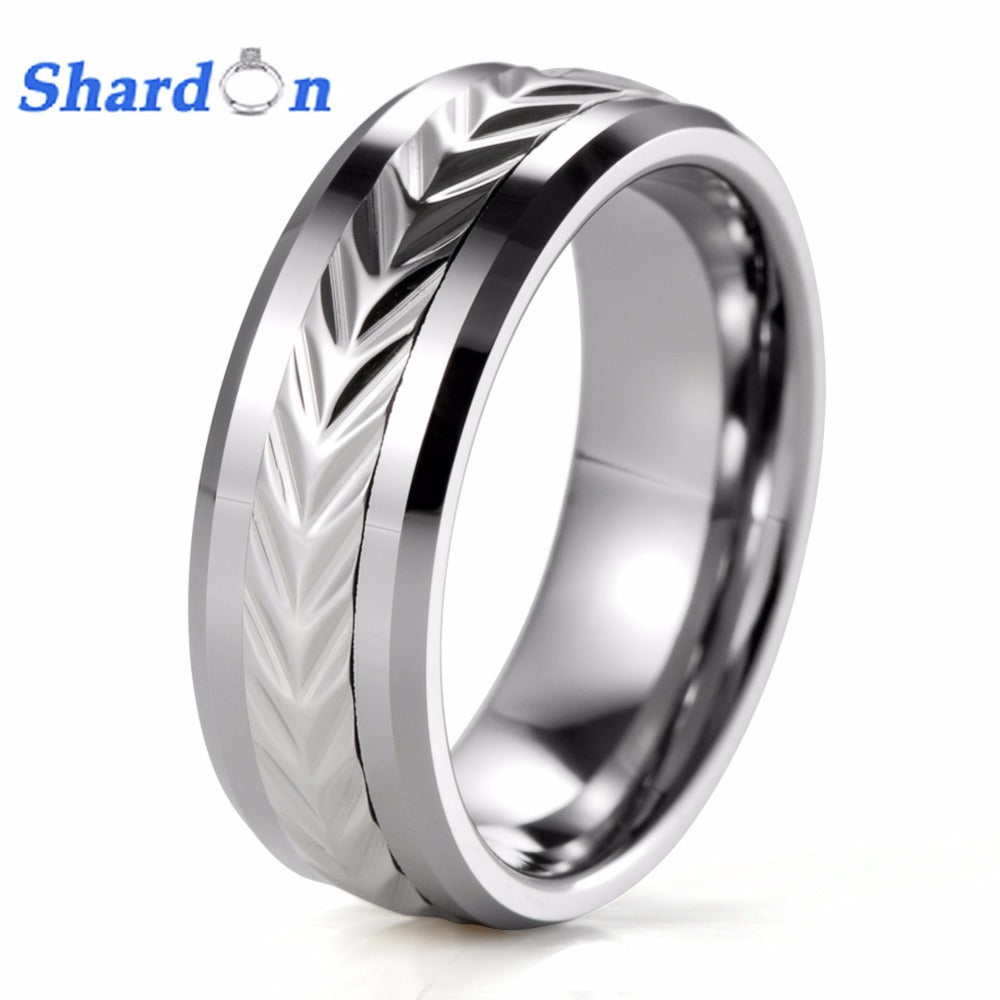 SHARDON engagement Rings jewelry wedding jewelry surface width 8mm anel wedding rings sets for bridegroom romantic