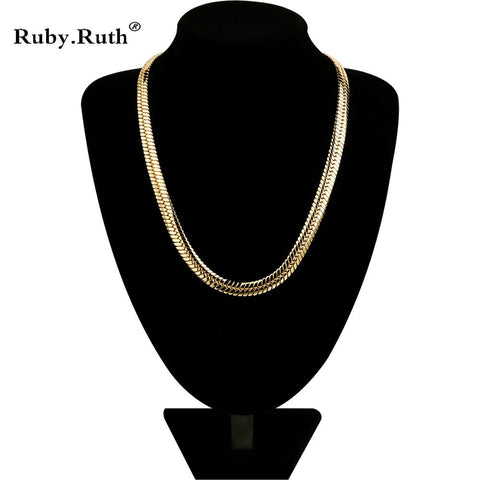 Men Women Jewelry New Fashion Gold Color Jewelry Men Necklace Copper 55CM Long Men Necklace