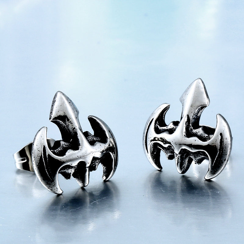 BEIER 2017 Cross Earring  Stainless Steel Rock Punk Gothic Vintage Jewelry For Men And Women Good polised  E009