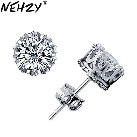 Silver crown earrings wild crystal jewelry lady lovely high quality men's fashion jewelry manufacturers, wholesale